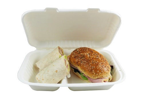2 Compartment Eco Food Boxes - GM Packaging (UK) Ltd