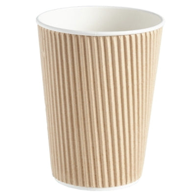 20oz Brown Ripple Coffee Cups - GM Packaging (UK) Ltd