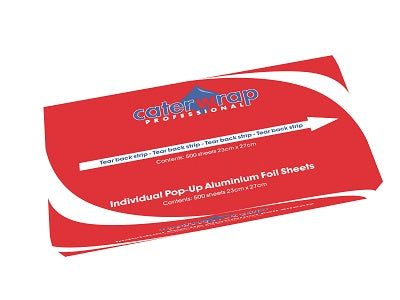 23x25cm Aluminium Foil Sheets/500s - GM Packaging (UK) Ltd