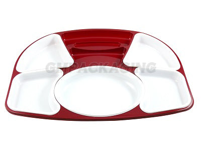 Meal Tray, 5 White inserts with Lids/30s