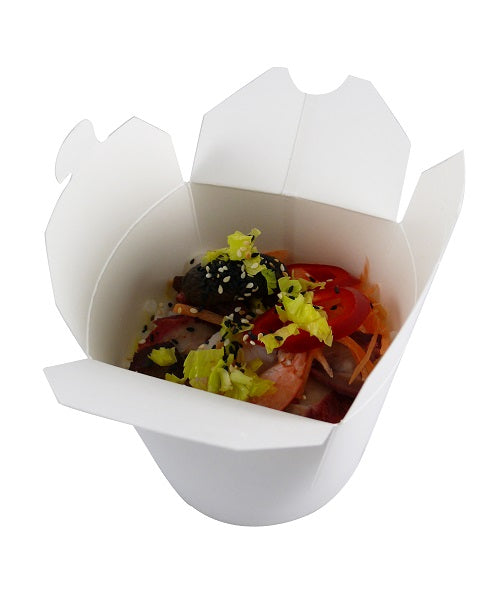26oz Noodle Boxes (White) - GM Packaging (UK) Ltd