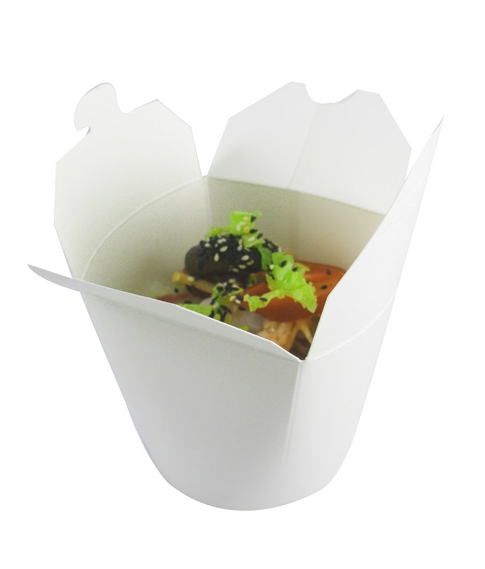 16oz white round noodle boxes - GM Packaging UK Ltd