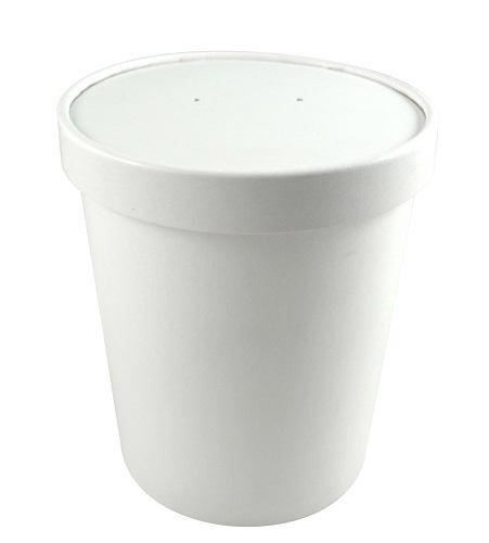 26oz White Paper Soup Containers - GM Packaging (UK) Ltd