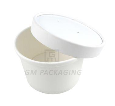 8oz White Paper Soup Cups with Lids
