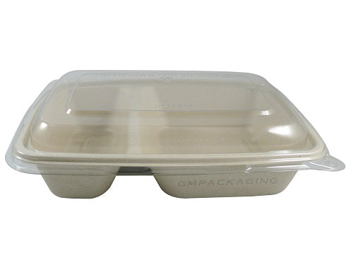 2 compartments biodegradable food containers - GM Packaging UK Ltd