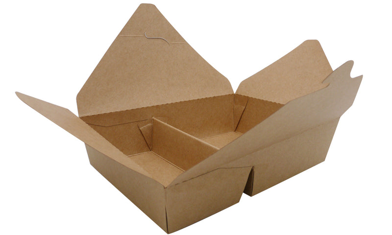 2 compartment cardboard food boxes - GM Packaging UK Ltd