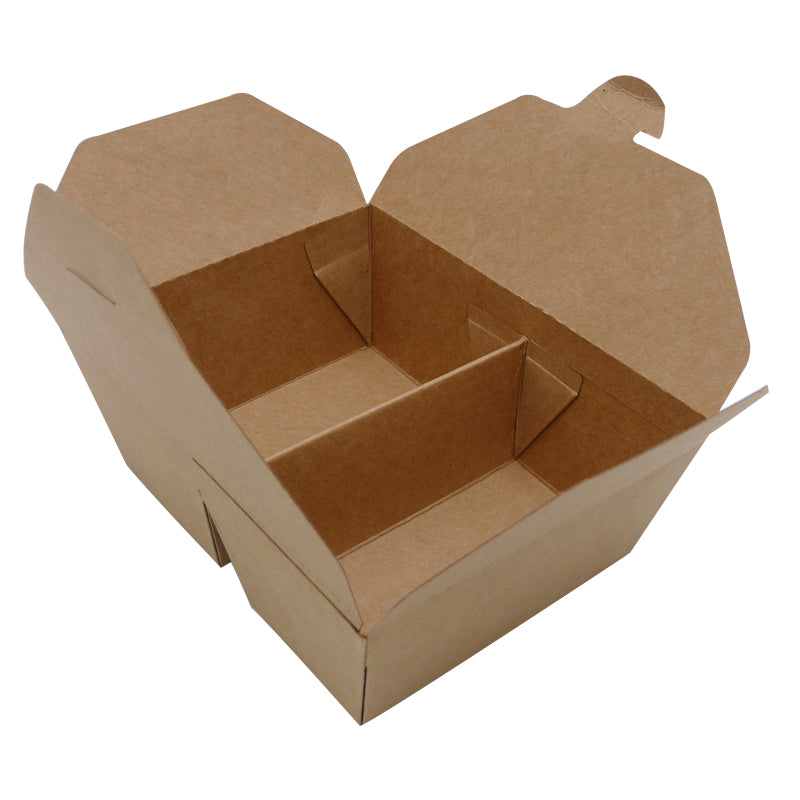 2 compartment kraft food boxes - GM Packaging UK Ltd