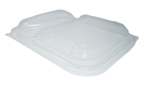2 Cavity Delux Rectangular Gry Microwave Containers - GM Packaging (UK) Ltd