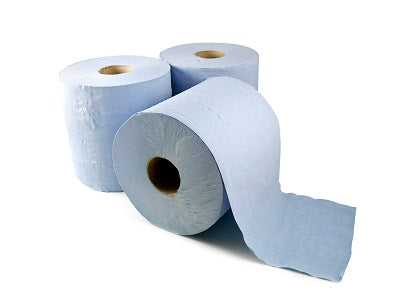 2 Ply Blue Centrefeed Roll - GM Packaging (UK) Ltd