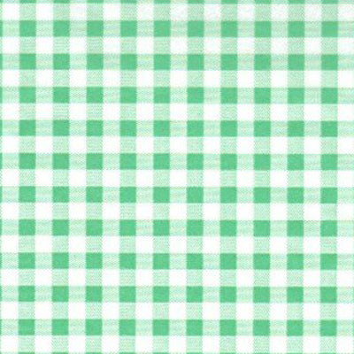 25 x 38cm Green Gingham Paper - GM Packaging (UK) Ltd