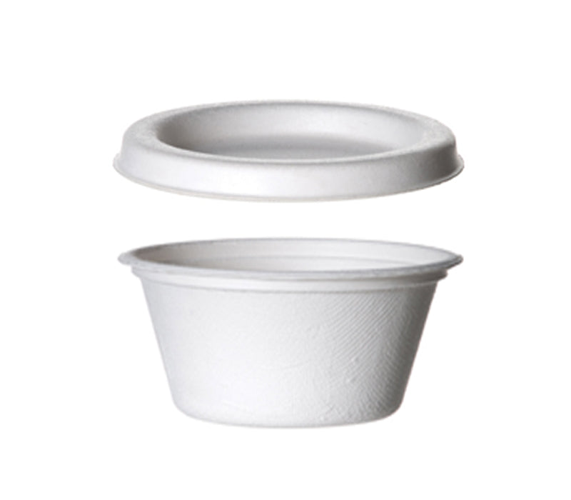 2oz Sugarcane Pots with Lids - GM Packaging (UK) Ltd