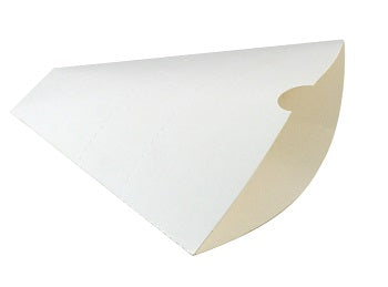 White Paperboard Crepe Cone - GM Packaging (UK) Ltd