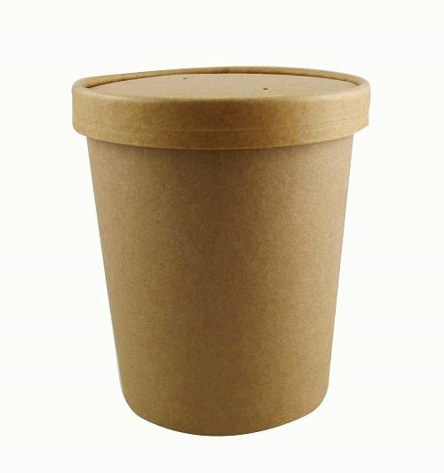 32oz Kraft Soup Cups with Lids - GM Packaging (UK) Ltd