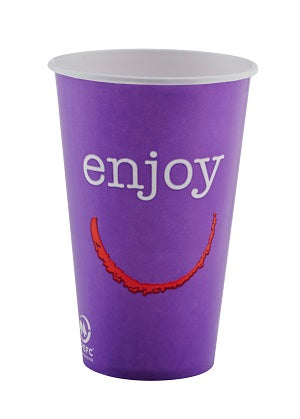 16oz Enjoy Paper Cold Cups - GM Packaging (UK) Ltd