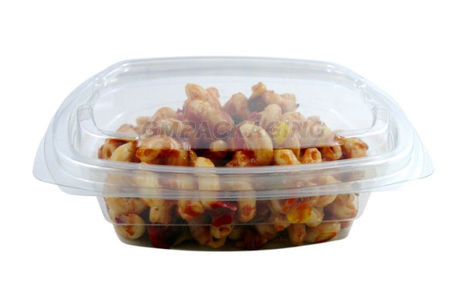 500cc FRESCO Hinged Oval Salad Container - GM Packaging (UK) Ltd