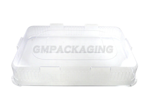 Clear Plastic Lid to fit Large Rectangular Platters - GM Packaging (UK) Ltd
