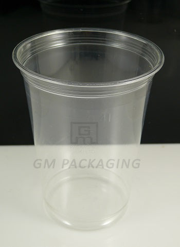 16oz Plastic Smoothie Cup with Dome Lid/1000s