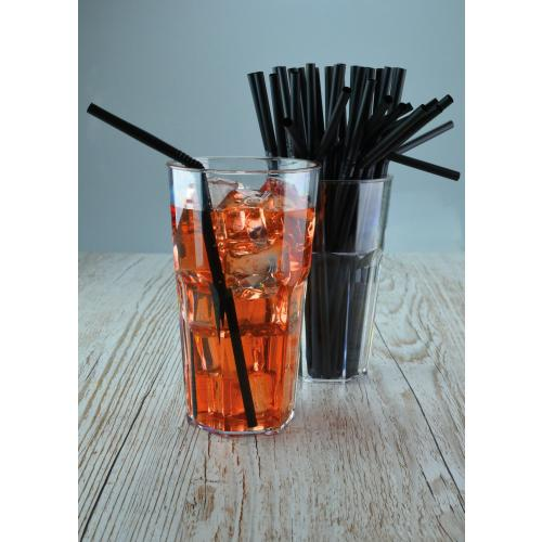 6mm Black Bendy Compostable Straws - GM Packaging UK Ltd