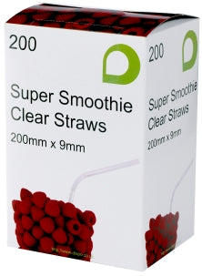 Clear Super Smoothie Straws