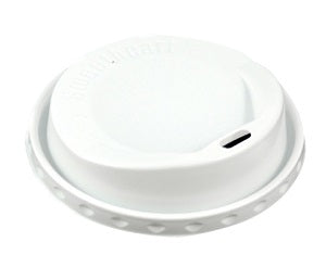 8oz White Plastic Sip thru Coffee Lid - GM Packaging (UK) Ltd