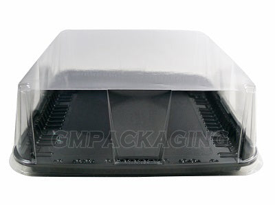 Square Black Base Cake Container - GM Packaging UK Ltd