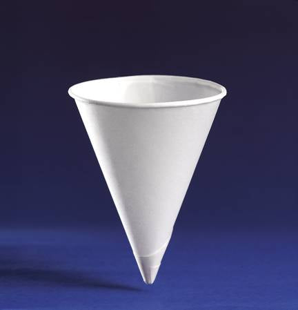 4oz Paper Water Cones Cups - GM Packaging (UK) Ltd