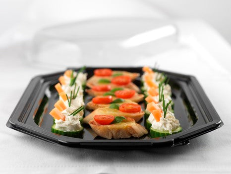 Large Octagonal Catering Platters with Lids - GM Packaging (UK) Ltd