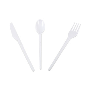 6 inch White Plastic Forks - GM Packaging (UK) Ltd