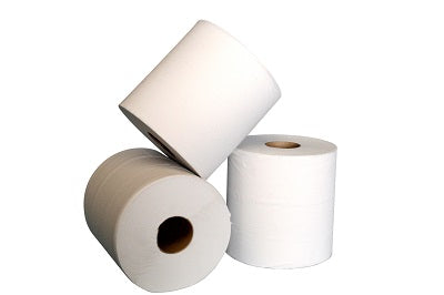 2 Ply White Centrefeed Roll