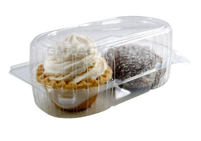 2 Pack Muffin Cake Containers