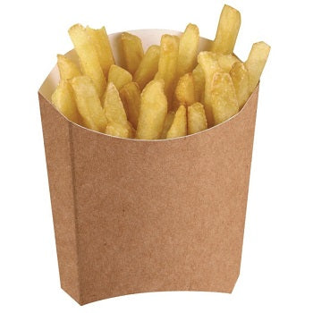 Large Kraft Cardboard Chip Scoop - GM Packaging (UK) Ltd