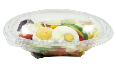 500cc Oval Plastic Salad Container SLV