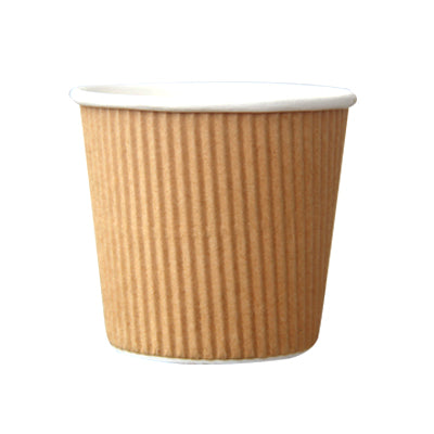 4oz Kraft Ripple Coffee Cup - GM Packaging (UK) Ltd