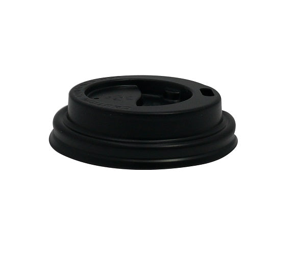 4oz black plastic coffee lid - GM Packaging UK Ltd