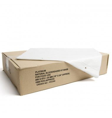 12x18inch Natural High Tensile Sack, (15mu) - GM Packaging (UK) Ltd