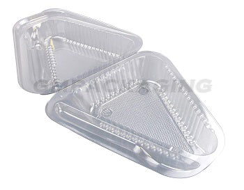 Cheesecake Slice Container with SPORK - GM Packaging UK ltd