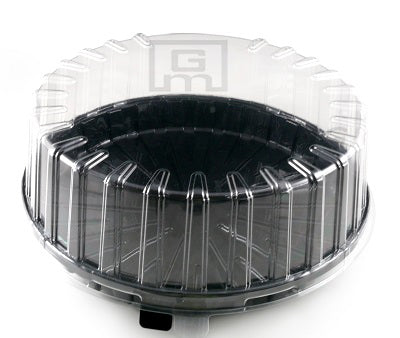 Gateaux Cake Container Black base - GM Packaging (UK) Ltd