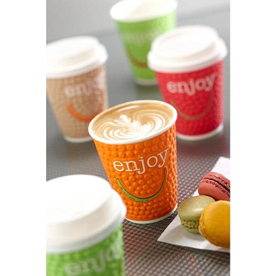 8oz Enjoy Coffee Paper Cups - GM Packaging UK Ltd