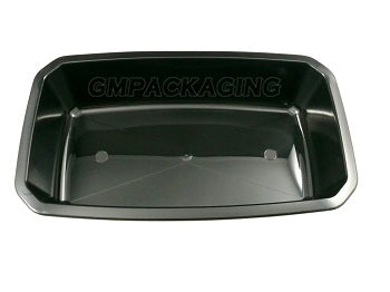 1500cc PP Black Food Lidding Trays - GM Packaging (UK) Ltd