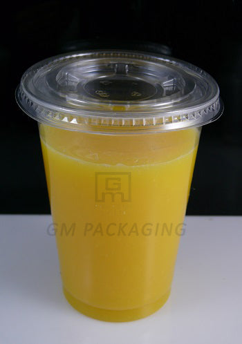 Clear Plastic Flat Lid Smoothie Cup/1000s