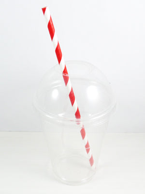 6mm Red Striped Paper Straws - GM Packaging (UK) Ltd