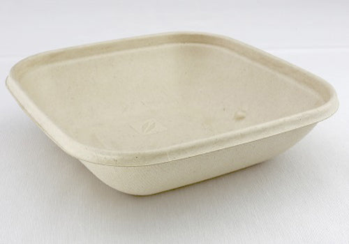 500ml Pulp Square Bowls - GM Packaging (UK) Ltd