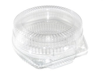 "6"" Round Open Cavity Hinged Cake Container - GM Packaging (UK) Ltd"