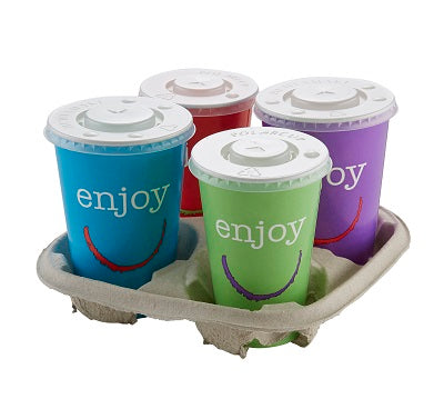 16oz Enjoy Paper Cold Cups with Lids/1000