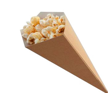 Small Kraft Food Cone - GM Packaging (UK) Ltd