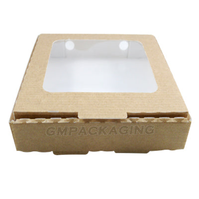Quarter Pizza boxes with clear window
