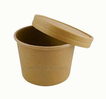 12oz Kraft Squat Soup Cups with Lids - GM Packaging (UK) Ltd