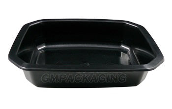 330cc PP Black Food Lidding Tray - GM Packaging (UK) Ltd