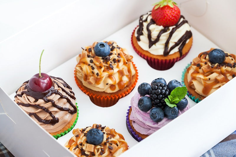 6 cupcake paper boxes - GM Packaging UK Ltd