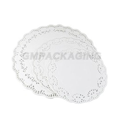 "5.5"" Round Lace Paper Doilies - GM Packaging (UK) Ltd"
